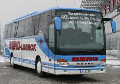 Omnibusbetrieb Berg, Lübeck, übernimmt den 40. SETRA-Reisebus
